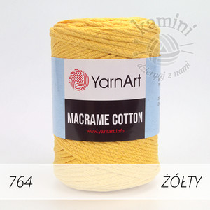 Macrame Cotton 764 żółty