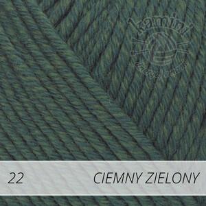 Cotton Merino 22 ciemny zielony