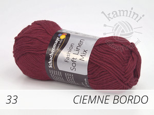 Soft Linen Mix 33 ciemne bordo