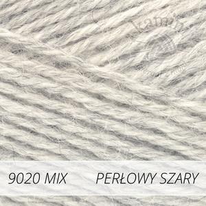Alpaca Mix 9020 perłowy szary