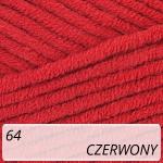 Jeans Plus 64 czerwony