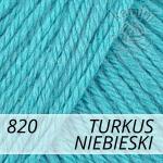 Baby Wool 820 turkus niebieski