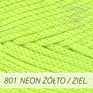 Macrame Cotton 801 neon żółto / zielony