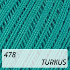 Mercerized Mini Crochet 478 turkus