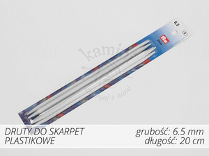 Druty do skarpet plastikowe 6,5mm Prym