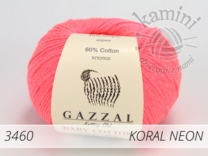 Baby Cotton 3460 koral neon