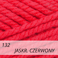 Bravo Big 132 jaskrawy czerwony