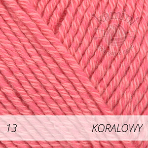 Cotton Merino 13 koralowy