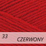 Merino Gold 033 czerwony