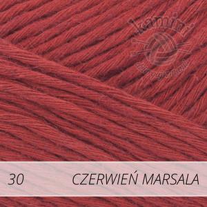 Soft Linen Mix 30 czerwień marsala