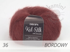 Kid-Silk 36 bordowy