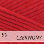 Jeans Plus 90 czerwony