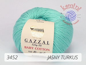 Baby Cotton 3452 jasny turkus