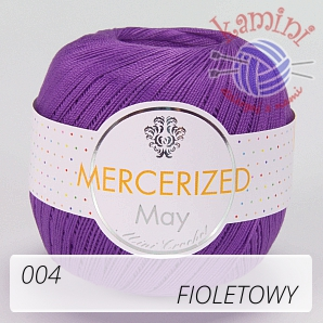 Mercerized Mini Crochet 004 fioletowy