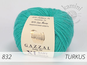 Baby Wool XL 832 turkus