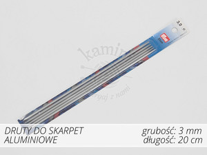 Druty do skarpet aluminiowe 3,0mm Prym