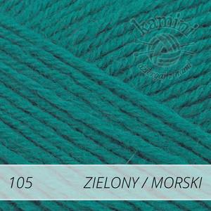 Merino Gold 105 zielony - morski