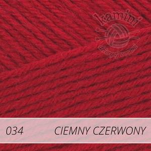 Merino Gold 034 ciemny czerwony