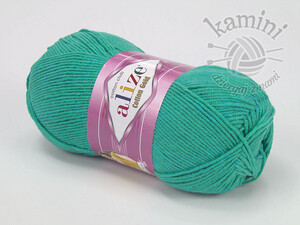 Cotton Gold 610 zielony turkus