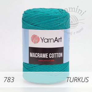 Macrame Cotton 783 turkus