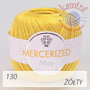 Mercerized Mini Crochet 130 żółty