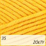 Jeans Plus 35 żółty