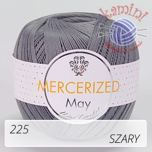 Mercerized Mini Crochet 225 szary
