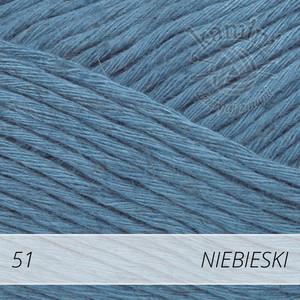Soft Linen Mix 51 niebieski