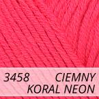 Baby Cotton 3458 ciemny koral neon