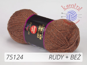 Everyday New Tweed 75124 rudy + beż