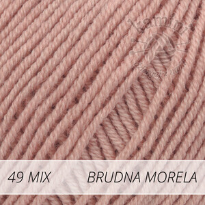 Baby Merino Mix 49 brudna morela