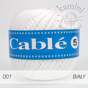 Cable 5 001 biały