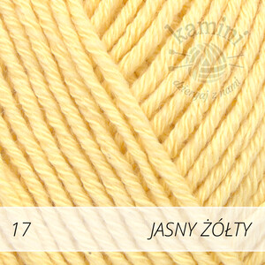 Cotton Merino 17 jasny żółty