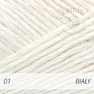 Bomull-Lin 01 biały