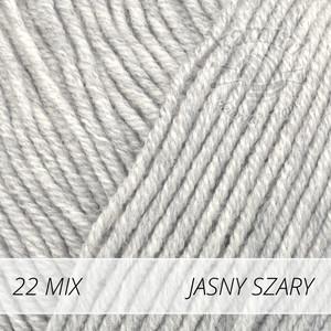 Baby Merino Mix 22 jasny szary