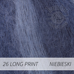 Kid-Silk Long Print 26 niebieski