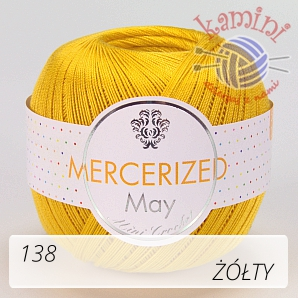 Mercerized Mini Crochet 138 żółty