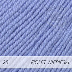 Baby Merino 25 fioletowy niebieski