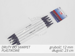 Druty do skarpet plastikowe 12,0mm Prym