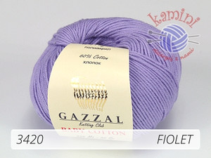 Baby Cotton 3420 fiolet