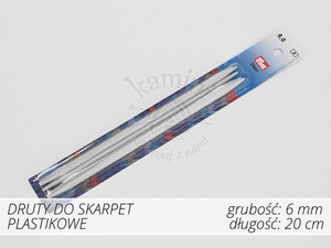 Druty do skarpet plastikowe 6,0mm Prym