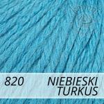 Baby Wool XL 820 niebieski turkus