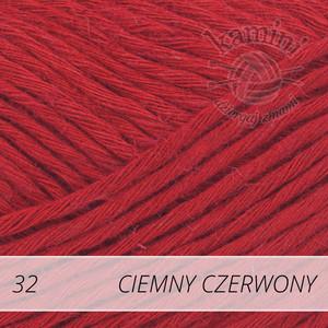 Soft Linen Mix 32 ciemny czerwony
