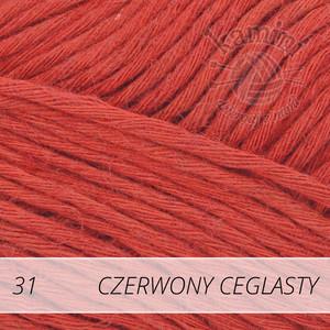 Soft Linen Mix 31 czerwony ceglasty