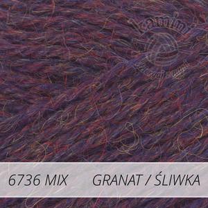 Alpaca Mix 6736 granat śliwka