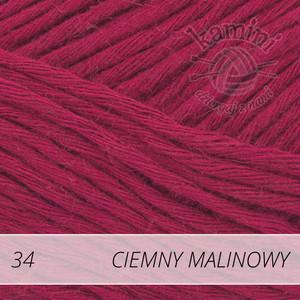 Soft Linen Mix 34 ciemny malinowy