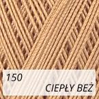 Mercerized Mini Crochet 150 ciepły beż