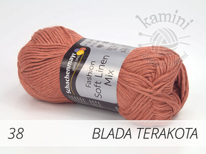 Soft Linen Mix 38 blada terakota